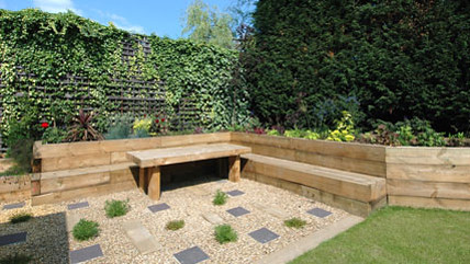 The railway sleeper garden ed 055 flickr photo sharing for Garden designs with railway sleepers