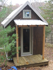 outdoor structure, hut, wood, cottage, outhouse, shed,