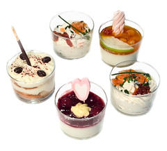 breakfast(0.0), produce(0.0), meal(1.0), parfait(1.0), sundae(1.0), food(1.0), dish(1.0), dairy product(1.0), dessert(1.0), cuisine(1.0),