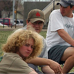 Some of the Open players take a break at Spring Fling 2005 at Expo Park.