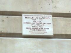 Photo of Ignatius Sancho brown plaque