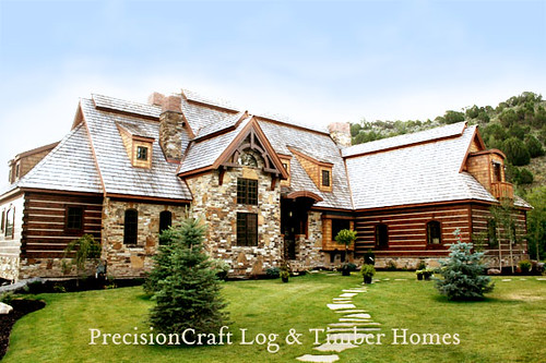 Hybrid Log & Timber Home | Located in Eastern Idaho | PrecisionCraft Log & Timber Homes