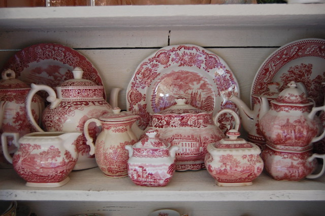 Red transferware