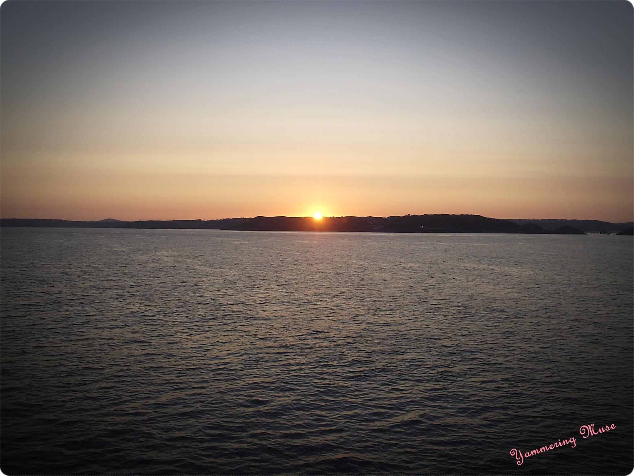 Sun Set on the way to Ireland