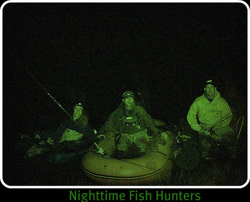 Fly fishing at night for Trout fishing at night