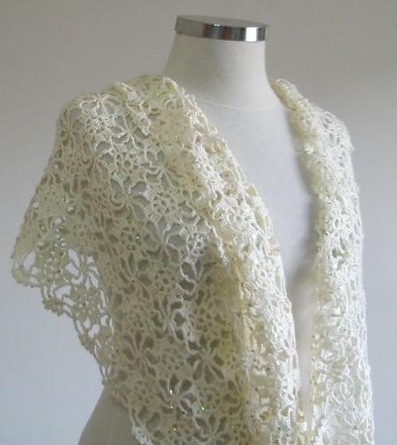 Crochet Wedding : Crocheted Ivory Wedding Shawl Flickr - Photo Sharing!