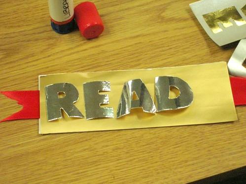 Silver READ Bookmark