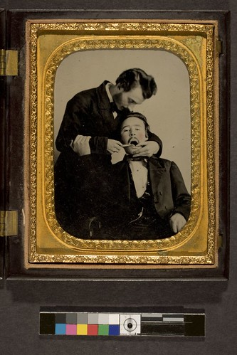 portrait of a dentist and patient