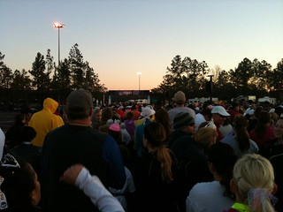 Starting line and sunrise