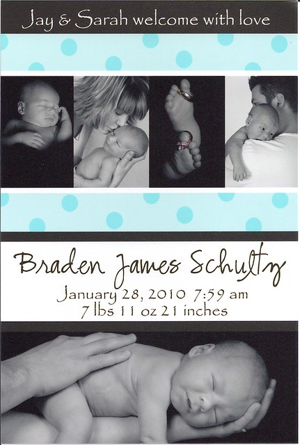 Braden's Birth Announcement