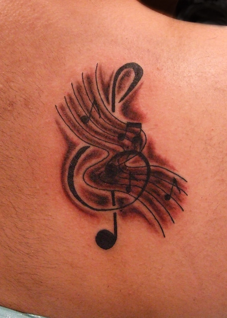 and Music Notes Tattoo