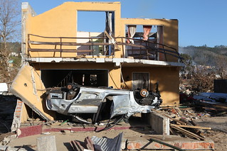 House and Car Destroyed by Tsunami | by U.S. Geological Survey