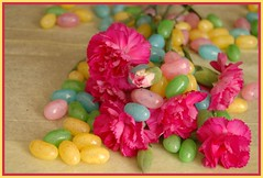 candy, flower, confectionery, food, pink, petal, jelly bean,