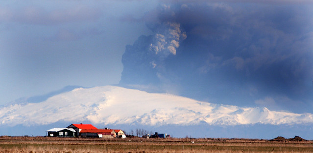 Eyjafjallajökull today.  This is the reason that it has canceled all flights in Europe