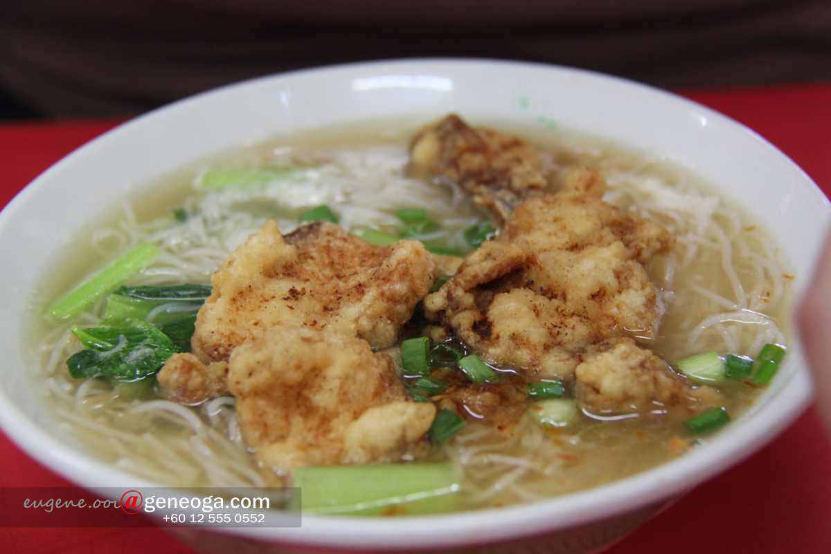 Soup bee hoon with fried fish