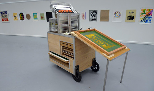 the mobile silk screen cart