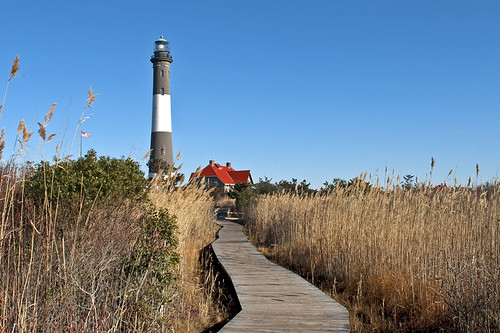 lighthouse on Fire Island by Alida's Photos