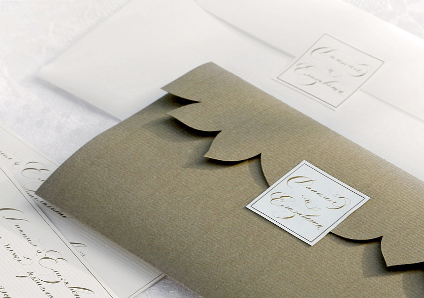 wedding invitation. Envelopes