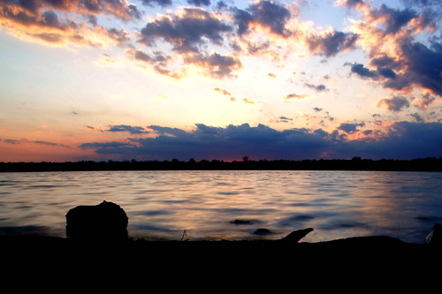 longexposure pink blue trees light sunset orange ny newyork color water silhouette yellow clouds evening bay spring pond seasons sony horizon may rochester greece waterscape a350 longpondbay