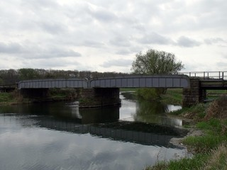 Railway over the river Nene