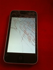 cracked iphone screen - Day 2