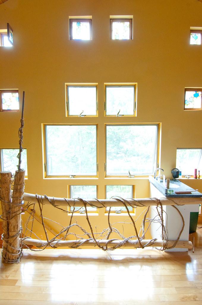windows in the dacha