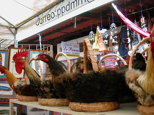 June 9 2010 Chicken baskets in marcado viejo, Masaya