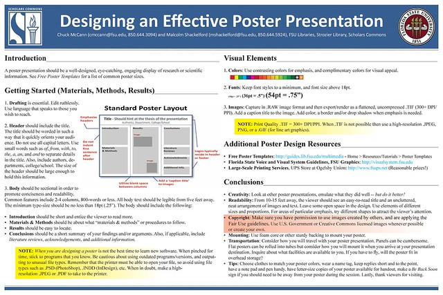 effective poster presentations Jonelle grant, participant in the creating effective academic poster workshops  this past march, entered her poster in the research colloquium.