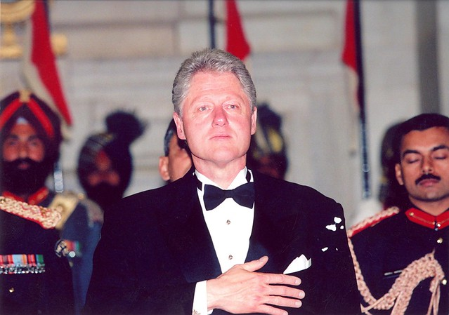 President Clinton visits India