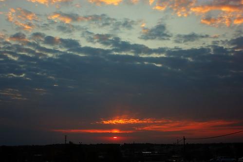 sunset sky skyline clouds sunrise canon xsi ftleonardwood lent454