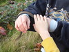 Katie and Jasper with Garter Snake 11-7-10