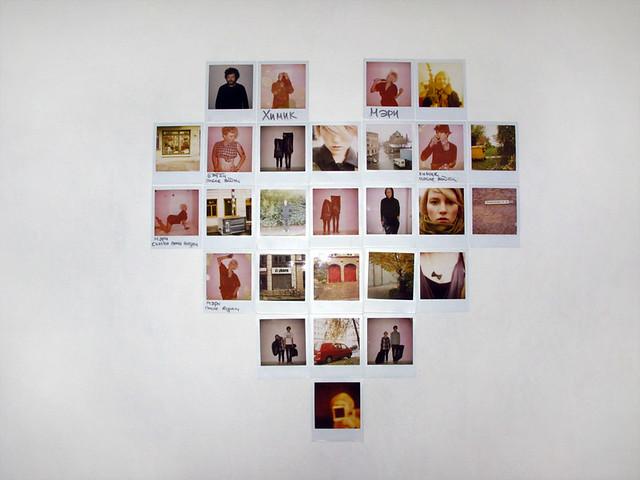 Wall Heart My Cute Heart Made Of Polaroids Thnx Timur
