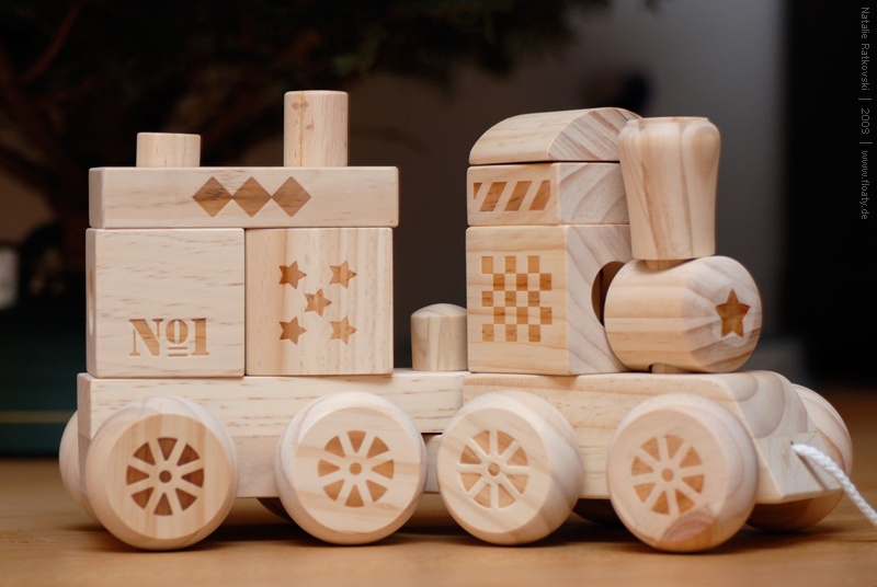 A wooden train for my son