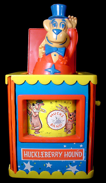 The jack-in-the-box offers continual delight. Known since the 16th century, and appearing as a Punch box (minus sidekick Judy), an admiral on a stick, and a Johnny jump-up, sometimes the jack figure was more horrible than humorous.