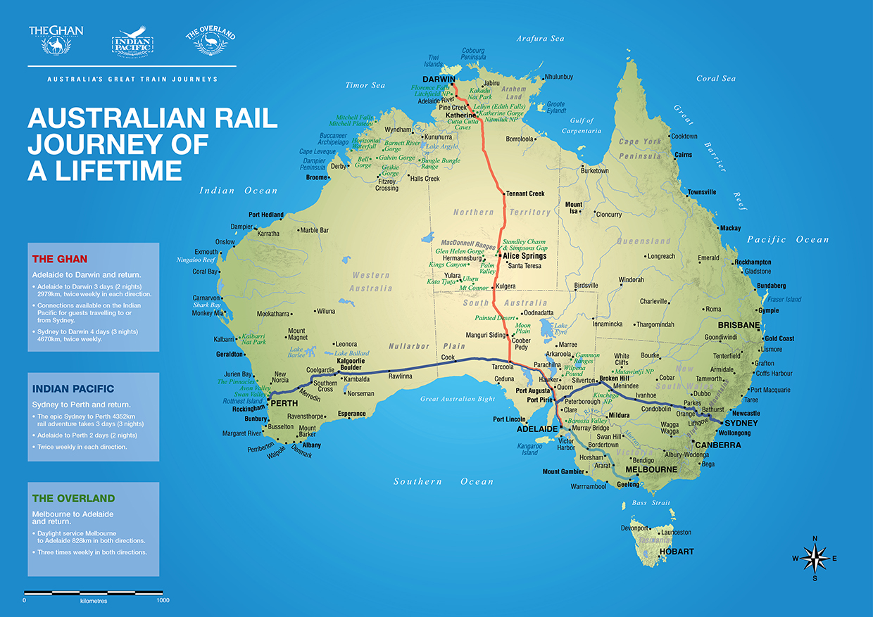 Australia Travel Routes