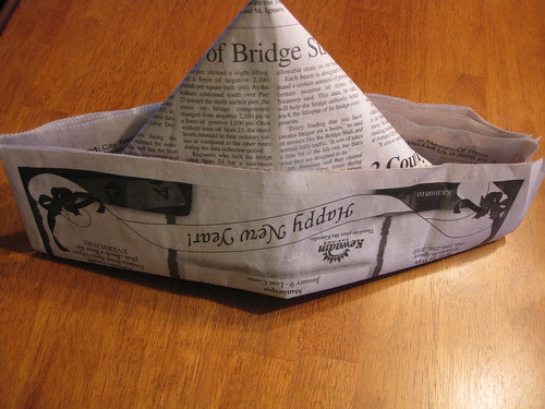 I wear my newspaper hat