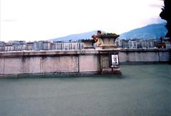 日内瓦勃朗峰滨湖路上 Geneva