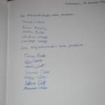 Unterschriften der Bündnispartner
