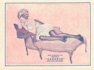 Cigarrillos Cabañas en el primer numero de la revista Zig Zag 1910