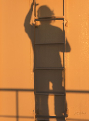Shadow Climbing the Ladder at Sunset by S@ilor, on Flickr