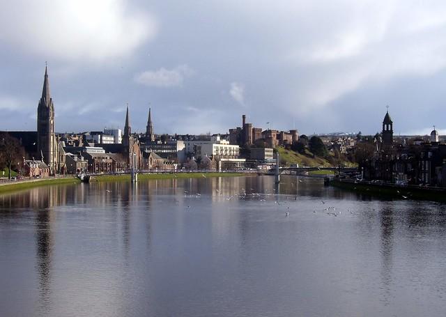 River Ness - Inverness Scotland from Friars Bridge