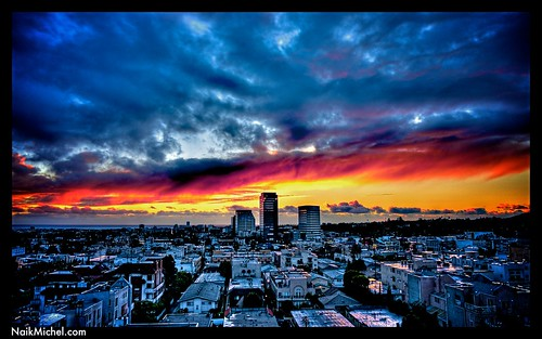 Naik Michel Photography - Sunset over Santa Monica, Los Angeles, California 001