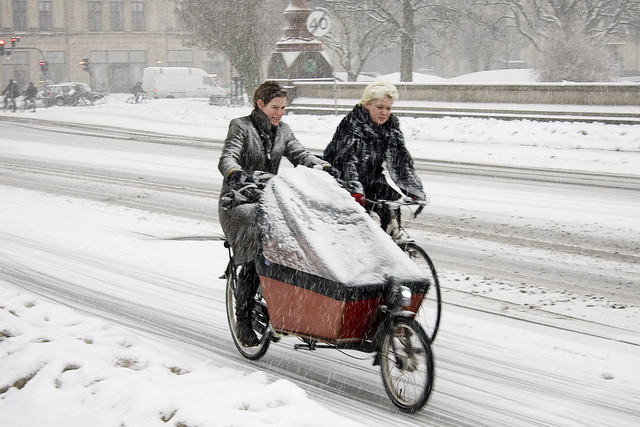 Afternoon Chat - Cycling in Winter in Copenhagen