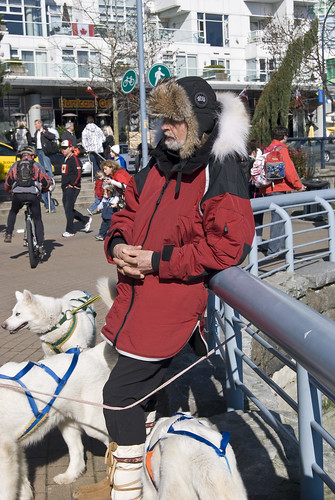 4380847297 91a1e61626 Sled dogs in Yaletown