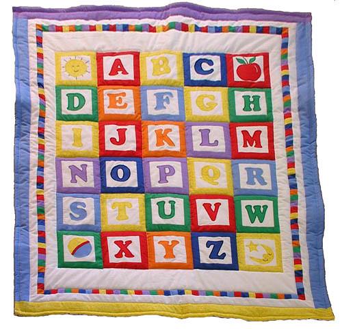 Handmade Baby Quilt Alphabet Blocks Flickr Photo