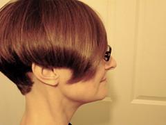 nose, bangs, chin, face, hairstyle, brown, hair, brown hair, bob cut,