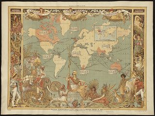 Imperial Federation Map of the World Showing the Extent of the British Empire in 1886