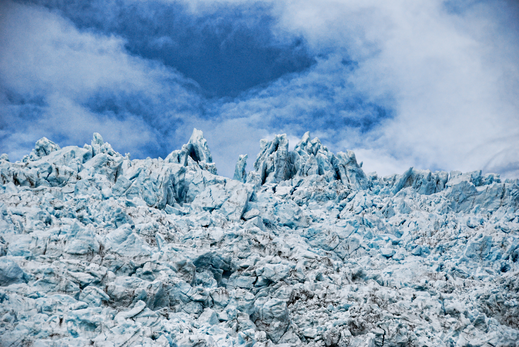 フランツジョセフ氷河の風景