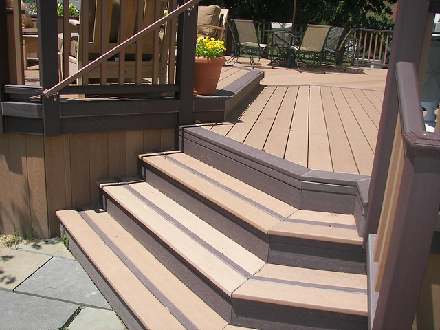 Deck 4 flickr photo sharing for Staining trex decking