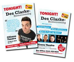 Mageners Comedy Festival - Des Clarke Flyer (Design & Print)
